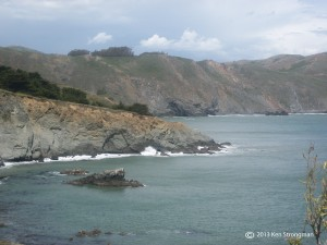 Bonita Cove from Point Bonita Lighthouse Trail