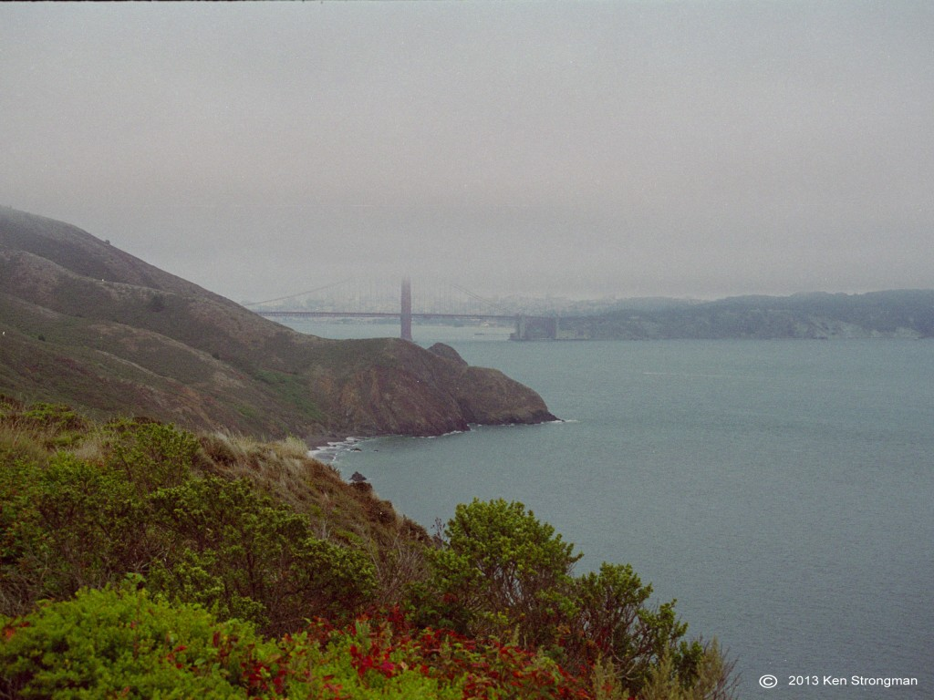 Golden Gate Bridge, Marin Headlands. not mediate