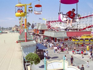 Santa Cruz Beach Boardwalk after setting up NYLT