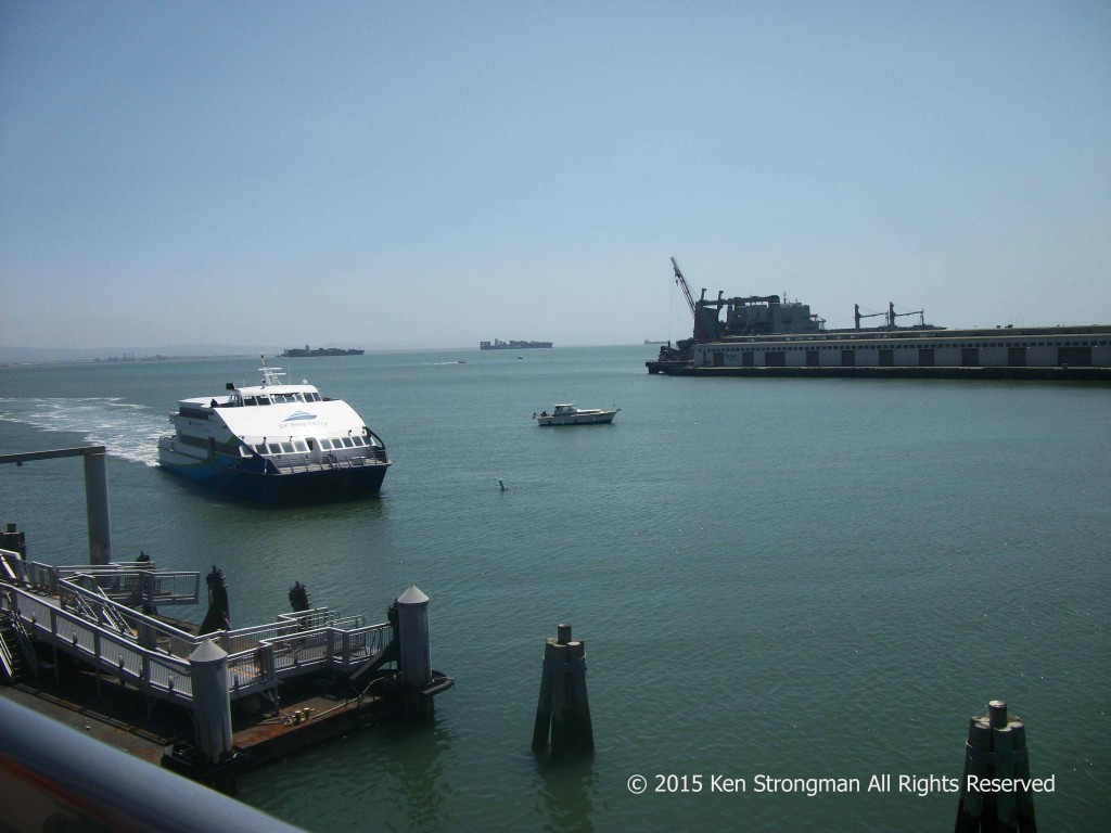 McCovey Cove and the arrival of the ferry