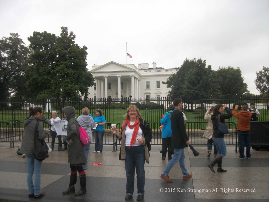 Melissa at the White House